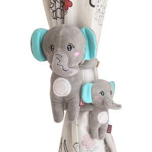 Curtain Holdbacks-Set of 2 Cute Elephant Tiebacks